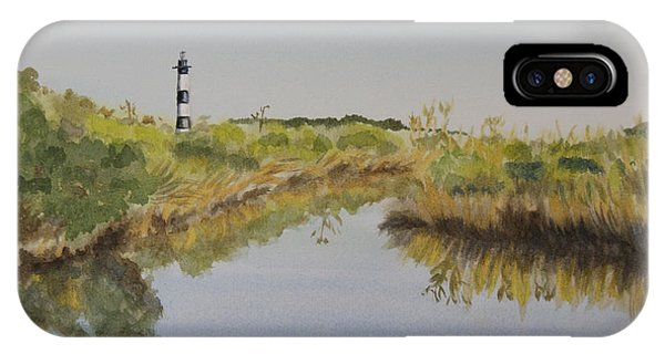 Beacon On The Marsh IPhone Case