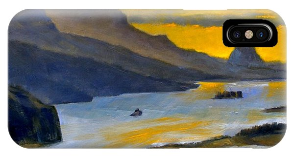 iPhone Case - Beacon Rock From Oregon Side by Jim Gola