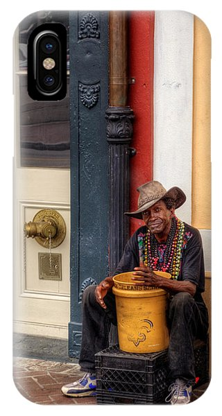 Beads And Bucket In New Orleans IPhone Case