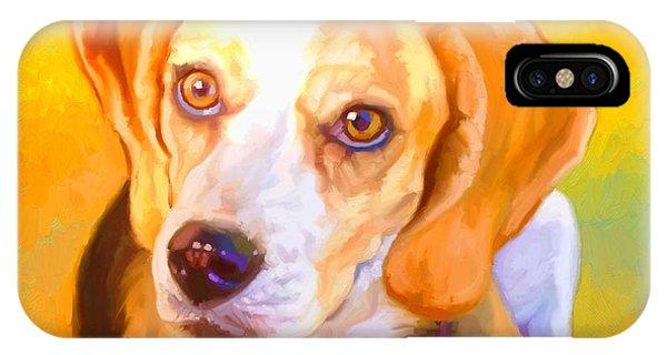 Beagle Dog Art Phone Case by Iain McDonald