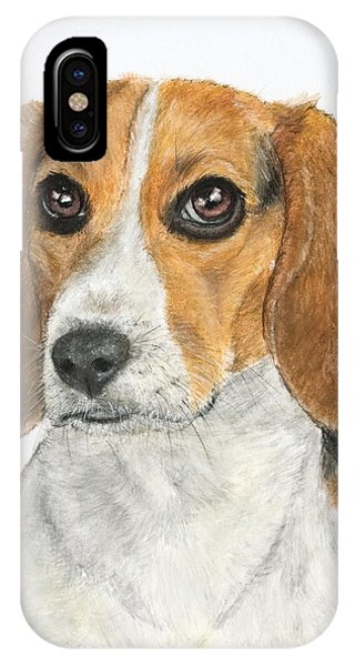 Beagle Painting IPhone Case