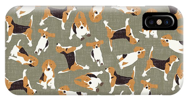Pattern iPhone Case - Beagle Scatter Stone by Sharon Turner