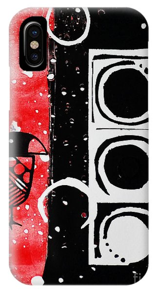 Beak In Red And Black IPhone Case