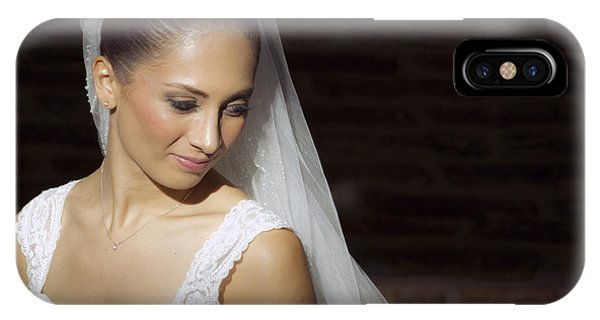 Beaming Bride IPhone Case