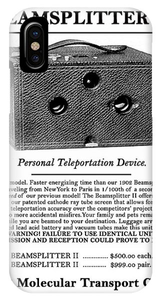 Beamsplitter Ll. IPhone Case