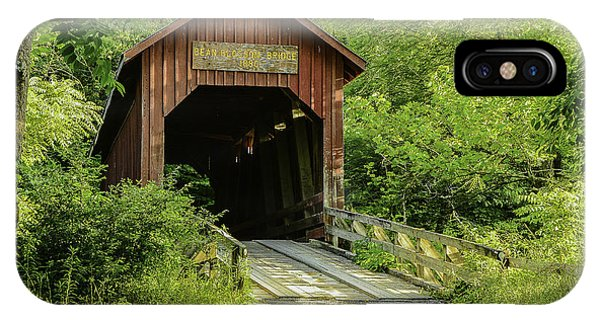 Bean Blossom Covered Bridge IPhone Case