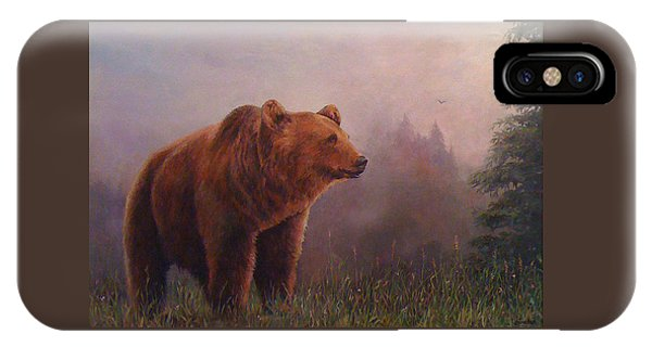Bear In The Mist IPhone Case