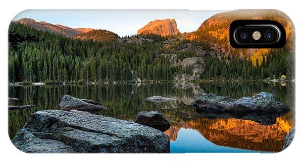 Rocky Mountain iPhone Case - Bear Lake Rocky Mntn Natl Park Colorado by Steve Gadomski