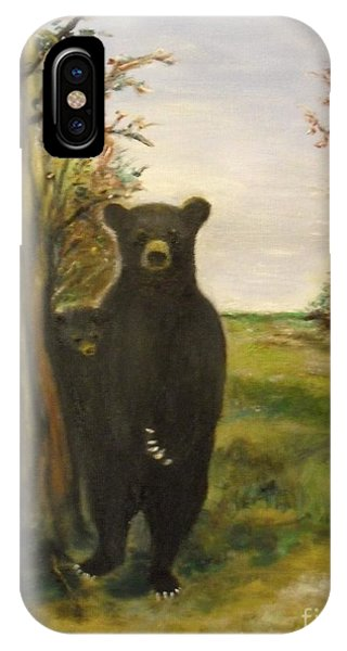 IPhone Case featuring the painting Bear Necessity by Laurie Lundquist