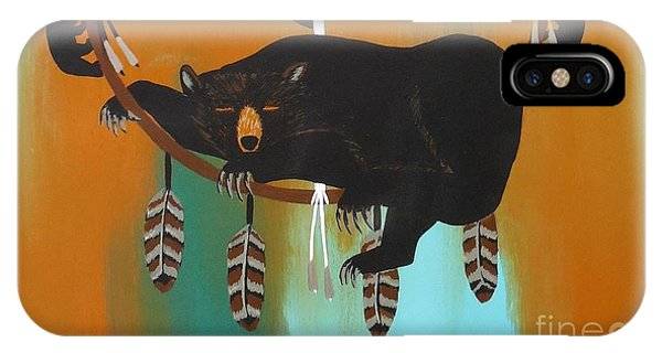Bear Totem And Medicine Wheel IPhone Case