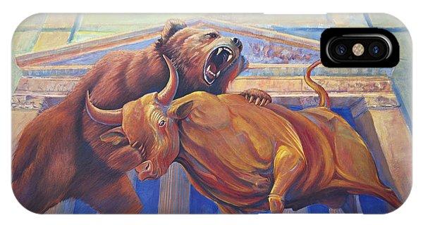 Bear Vs Bull IPhone Case