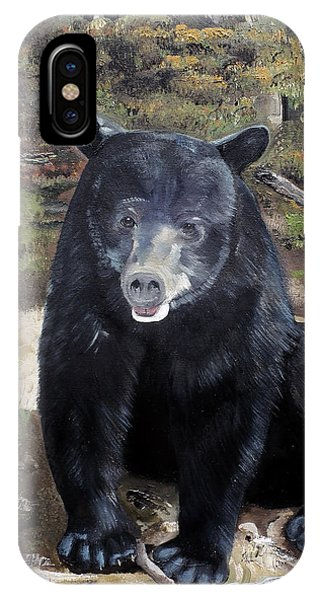 Bear - Wildlife Art - Ursus Americanus IPhone Case