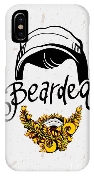 Funny iPhone Case - Beard And Mustache. Traditional Russian by Pevuna