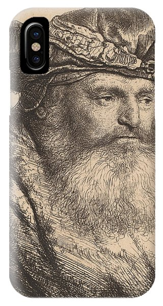 Baroque iPhone Case - Bearded Man In A Velvet Cap With A Jewel Clasp by Rembrandt