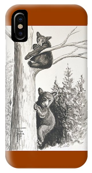 Bears In A Tree IPhone Case