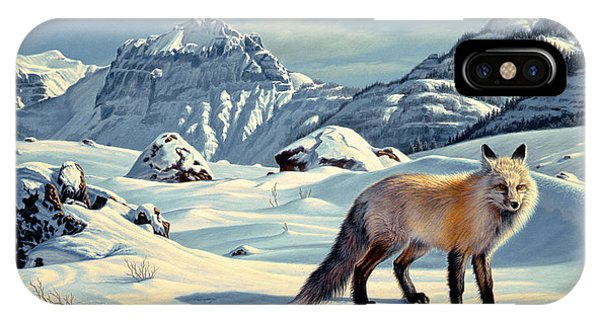 Yellowstone iPhone Case - Beartooth Fox by Paul Krapf