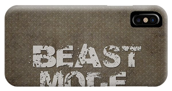 Achievement iPhone Case - Beast Mode by L Bee