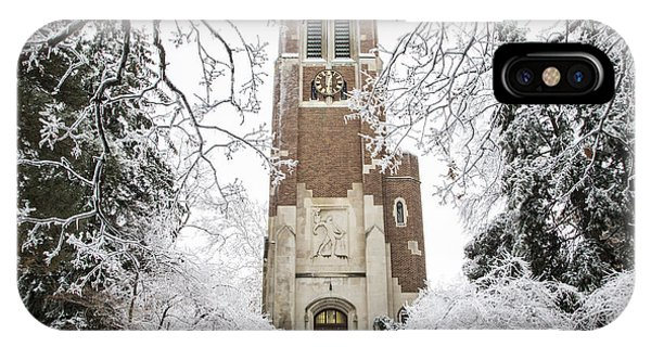 Beaumont Tower Ice Storm  IPhone Case