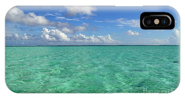 Beautiful Bora Bora Green Water And Blue Sky IPhone Case