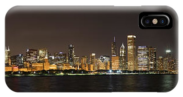 Chicago Skyline Art iPhone Case - Beautiful Chicago Skyline With Fireworks by Adam Romanowicz