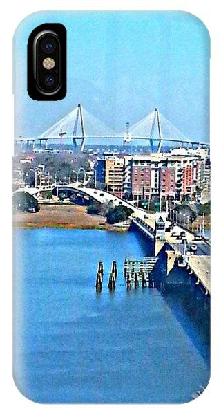 Charleston S C City View IPhone Case