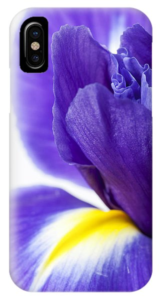 Beautiful Dark Purple Iris Flower IPhone Case