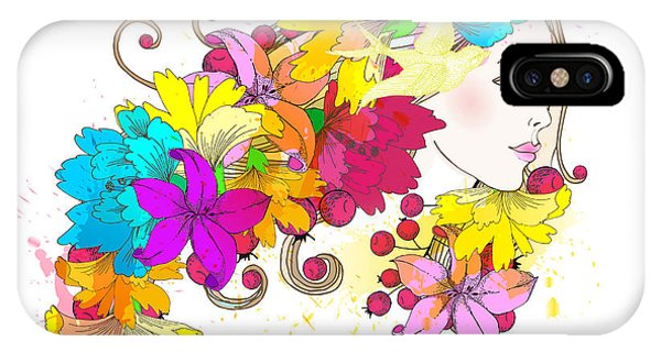 Beauty iPhone Case - Beautiful Fashion Women With Abstract by Komar Art