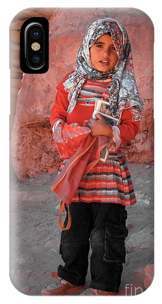Beautiful Girl At Petra Jordan IPhone Case