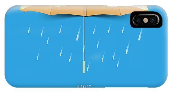 Open iPhone Case - Beautiful Glossy Golden Umbrella On by Allies Interactive
