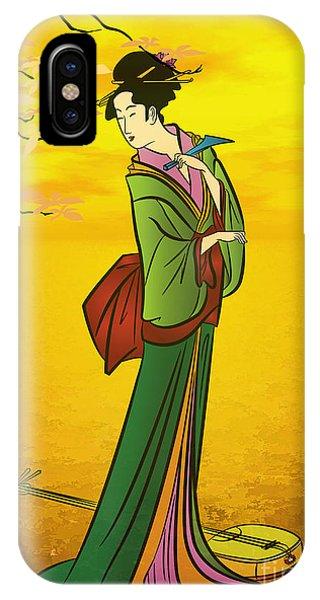 Beautiful Japanese Girl IPhone Case