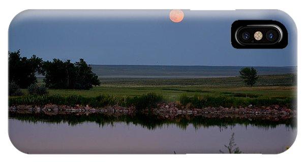 Beautiful Moon Over Kinney Lake IPhone Case