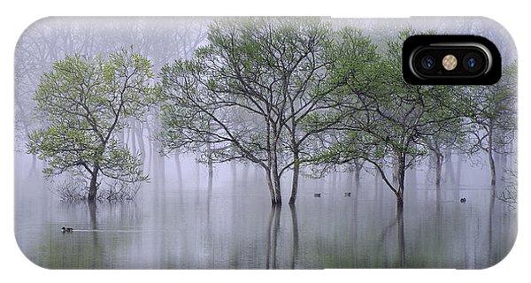 Flooded iPhone Case - Beautiful Morning by Teruo Araya