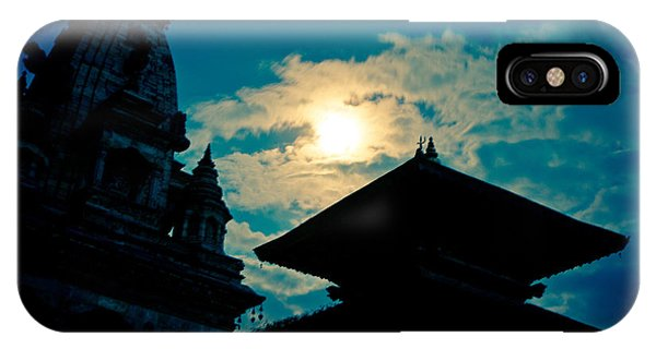Beautiful Night Scene In Old Town Bhaktapur IPhone Case