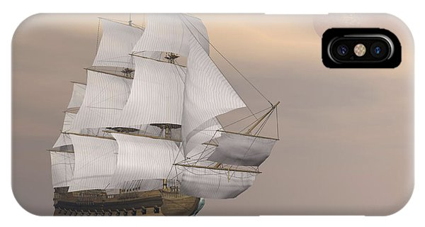 Schooner iPhone Case - Beautiful Old Merchant Ship Sailing by Elena Duvernay