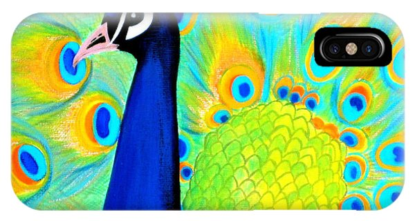 Beautiful Peacock Card IPhone Case