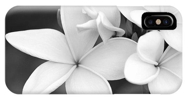 Beautiful Plumeria In Black And White IPhone Case