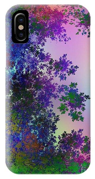 Fractal Landscape iPhone Case - Beautiful Summer Morning by Klara Acel