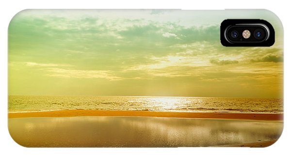 Tropes iPhone Case - Beautiful Sunset At The Hikkaduwa Beach by Gina Koch