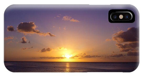 Beautiful Tropical Island Sunset On The Beach In Guam IPhone Case