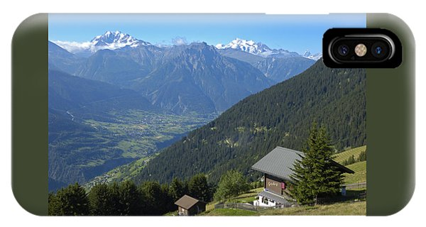 Beautiful View From Riederalp - Swiss Alps IPhone Case