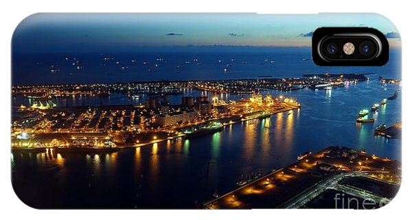 IPhone Case featuring the photograph Beautiful View Of Kaohsiung Port At Evening Time by Yali Shi