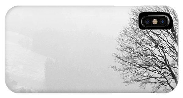 Landscapes iPhone Case - Beautiful Winter Landscape With Tree And Fence by Matthias Hauser