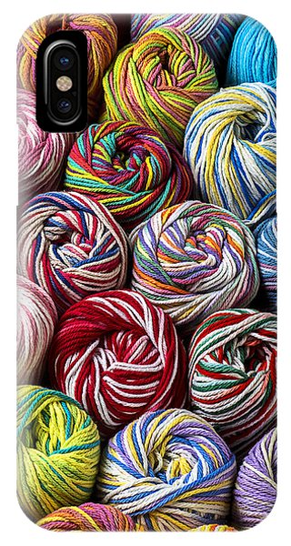 Colorful iPhone Case - Beautiful Yarn by Garry Gay