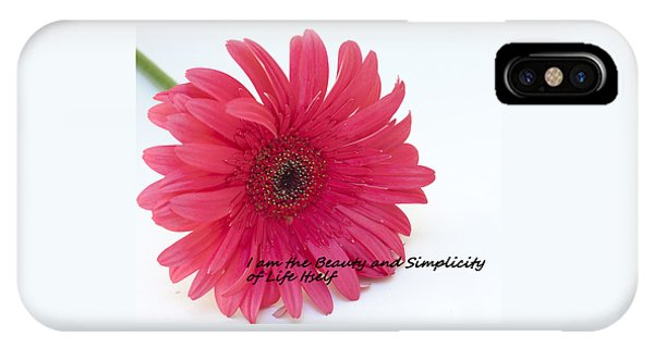 Beauty And Simplicity IPhone Case