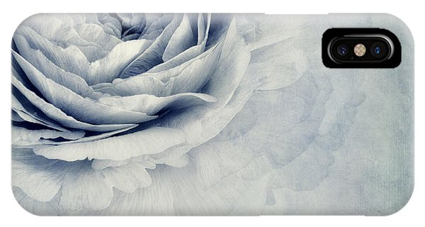 Blossoms iPhone Case - Beauty In Blue by Priska Wettstein