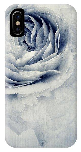 Blossom iPhone Case - Beauty In Blue by Priska Wettstein