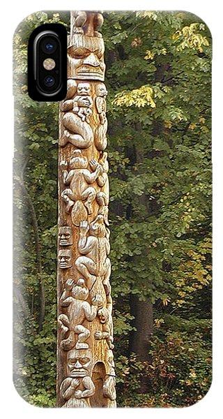 Beaver Totem Phone Case by Joseph Vittek