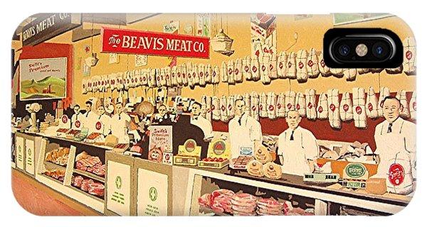 Beavis Meat In The Public Market Phone Case by Paul Guyer
