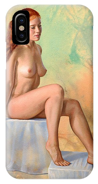 Nudes iPhone X Case - Becca 014 In Abstract by Paul Krapf