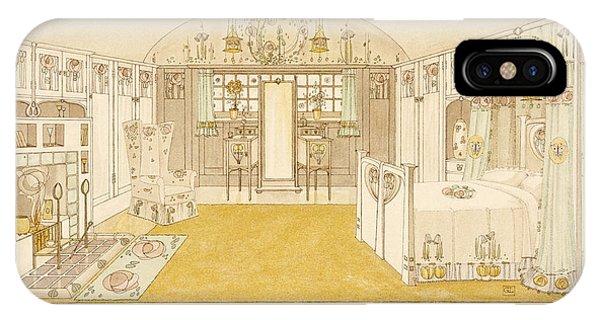 Fireplace iPhone Case - Bedroom, Logan George by George Logan